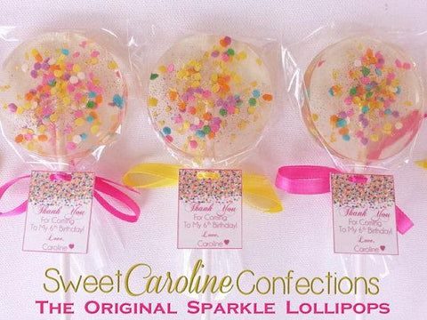 Celebration Sparkle Lollipops - Set of 6 - Sweet Caroline Confections | The Original Sparkle Lollipops