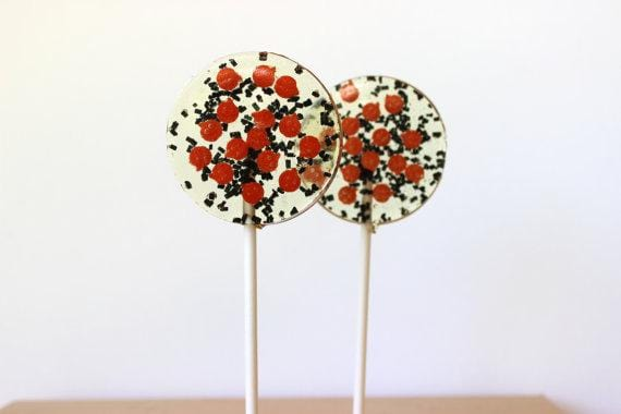 Orange and Black Halloween Lollipops-Set of 6 - Sweet Caroline Confections | The Original Sparkle Lollipops