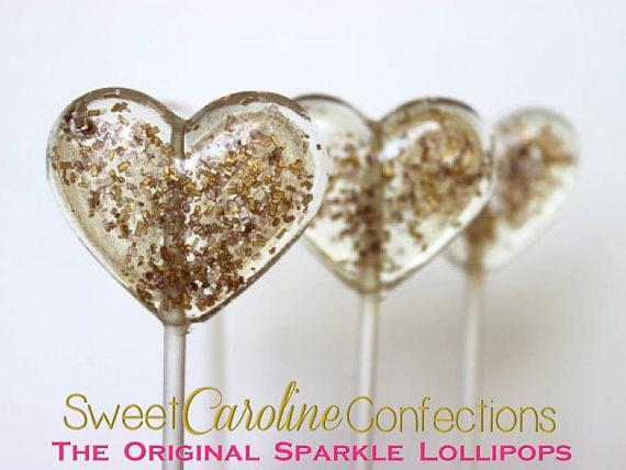 Brown and Gold Sparkle Lollipops - Set of 6 - Sweet Caroline Confections | The Original Sparkle Lollipops