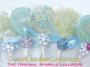 Frozen Themed Lollipops - Set of 6 - Sweet Caroline Confections | The Original Sparkle Lollipops
