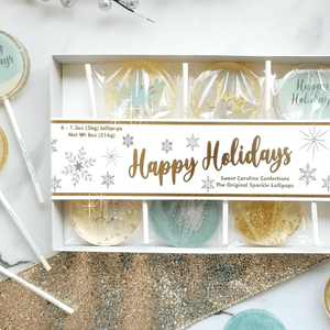 Happy Holidays Gift Box - 6 Lollipop Set