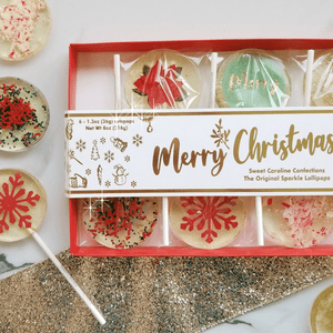 Merry Christmas Gift Box - 6 Lollipop Set