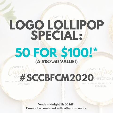 BFCM DEAL: 50 Logo Lollipops for $100! - Perfect for Corporate Marketing and Gifts