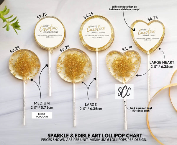 Wash Your Hands Lollipops - Set of 6 - Sweet Caroline Confections | The Original Sparkle Lollipops