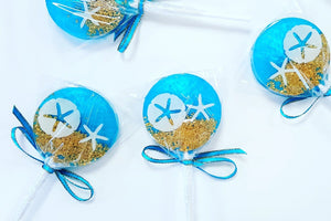 Under the Sea Lollipops - Set of 6 - Sweet Caroline Confections | The Original Sparkle Lollipops