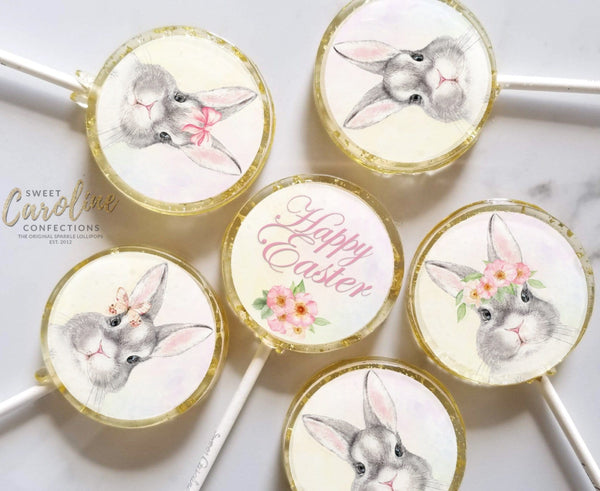 Easter Bunny Lollipops - Set of 6