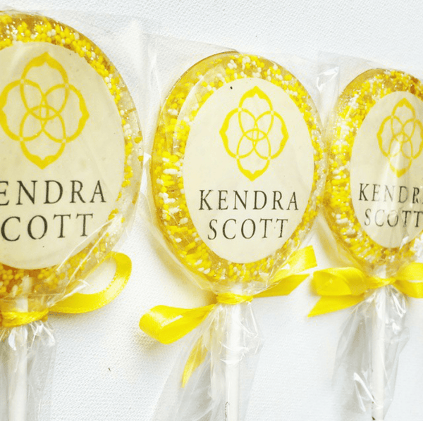 Logo Lollipops Perfect for Corporate Marketing and Gifts - Set of 6 - Sweet Caroline Confections | The Original Sparkle Lollipops