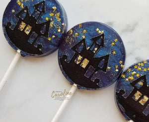 Haunted House Lollipops - Set of 6 - Sweet Caroline Confections | The Original Sparkle Lollipops