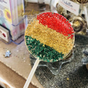 Red Gold Green Lollipops - Set of 6