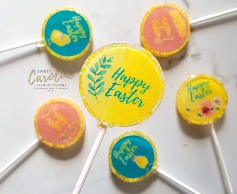 Happy Easter Lollipops - Set of 6