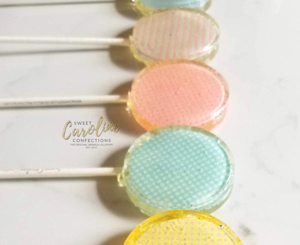 Easter Pastel Lollipops - Set of 6 - Sweet Caroline Confections | The Original Sparkle Lollipops