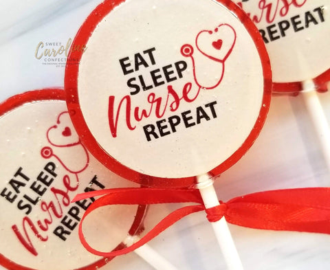 Nurse Love Lollipops - Set of 6 - Sweet Caroline Confections | The Original Sparkle Lollipops
