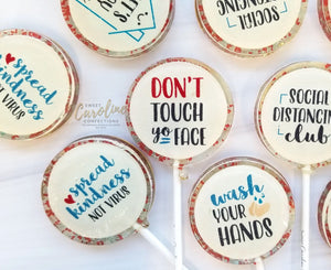 #STAYHOME Collection - Set of 6 - Sweet Caroline Confections | The Original Sparkle Lollipops