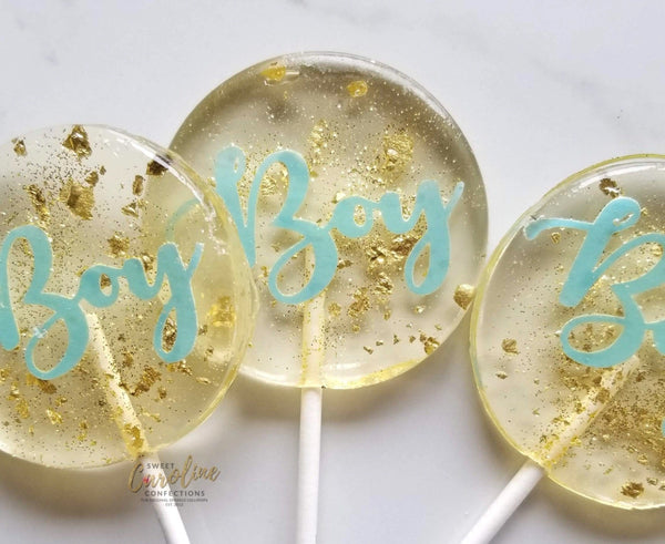 Baby Boy Lollipops - Set of 6 - Sweet Caroline Confections | The Original Sparkle Lollipops