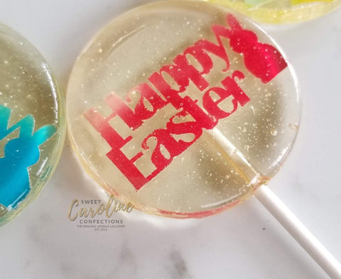 Die Cut Easter Lollipops - Set of 6 - Sweet Caroline Confections | The Original Sparkle Lollipops