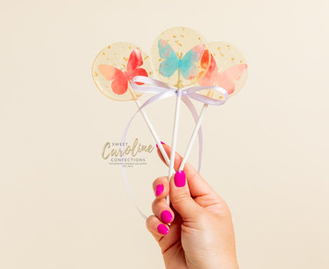Butterfly Lollipops -Set of 6