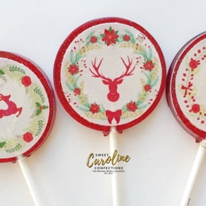 Christmas Deer Lollipops - Set of 6 - Sweet Caroline Confections | The Original Sparkle Lollipops