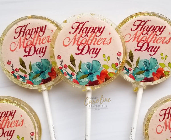 Mother's Day Flower Lollipops -Set of 6 - Sweet Caroline Confections | The Original Sparkle Lollipops