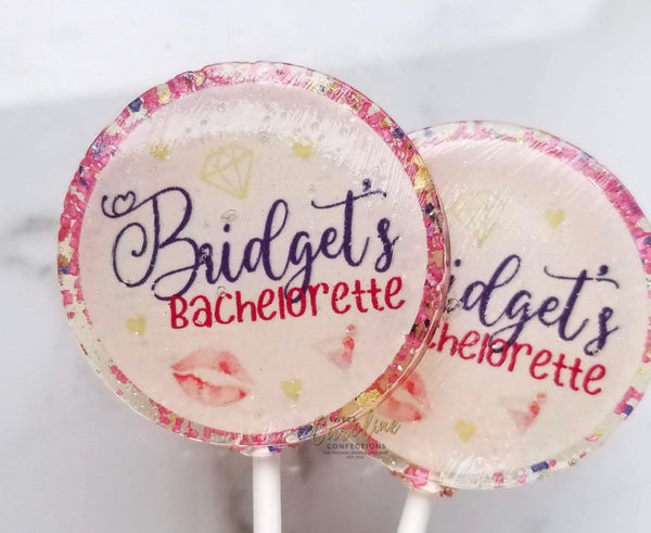 Girls' Night Out Bachelorette Lollipops - Set of 6 - Sweet Caroline Confections | The Original Sparkle Lollipops