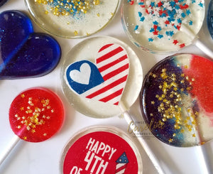 4th of July Variety Set - Set of 10 - Sweet Caroline Confections | The Original Sparkle Lollipops