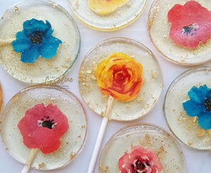 Mexican Inspired Flower Lollipops -Set of 6 - Sweet Caroline Confections | The Original Sparkle Lollipops