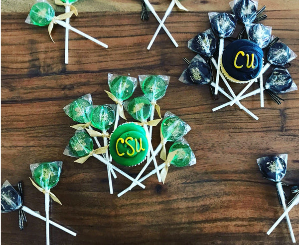 School Lollipops - Graduation Lollipops - Class of 2020 - 6/Set - Sweet Caroline Confections | The Original Sparkle Lollipops