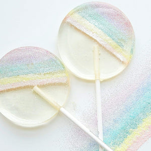 Pastel Rainbow Sparkle Lollipops - Set of 6 - Sweet Caroline Confections | The Original Sparkle Lollipops