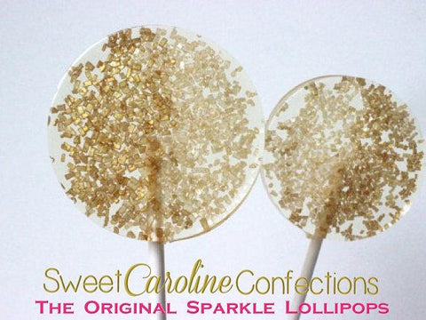 Gold and Citrine Sparkle Lollipops - Set of 6 - Sweet Caroline Confections | The Original Sparkle Lollipops