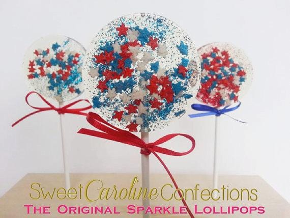 Fourth of July Sparkle Lollipops - Set of 6 - Sweet Caroline Confections | The Original Sparkle Lollipops
