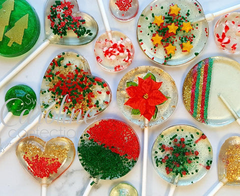 Christmas Variety Set - Set of 10 - Sweet Caroline Confections | The Original Sparkle Lollipops