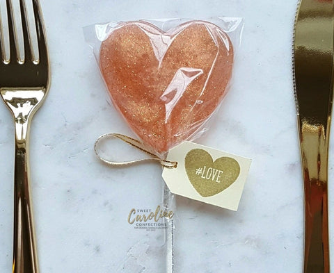 Rose Gold Lollipops - Set of 6