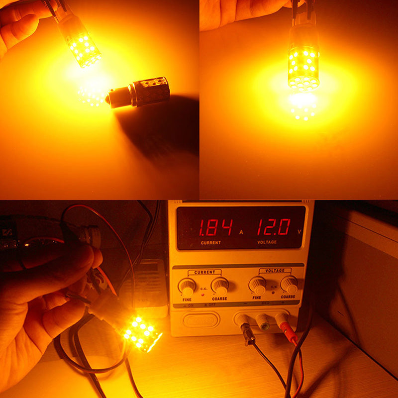 1156 Bombilla Led (AMBER) (Pair)