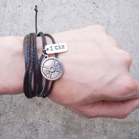"""I CAN"" Motivational Bracelet"