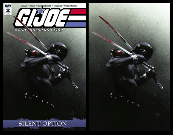 GI Joe Silent Option #2 Planet Awesome Exclusive Gabrielle Dell'Otto Variants