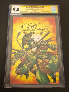 Teenage Mutant Ninja Turtles #75 Kevin Eastman/Joe Sinnott Color Variant 2x Signed CGC 9.8