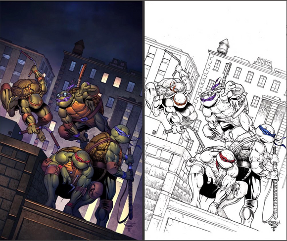 TMNT: Urban Legends #1 Sajad Shah Variant