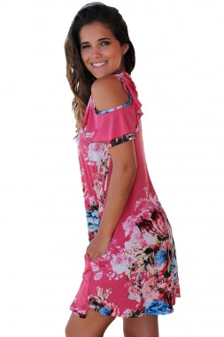 Rosy Floral Dress