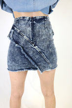 Zipper Denim Skirt