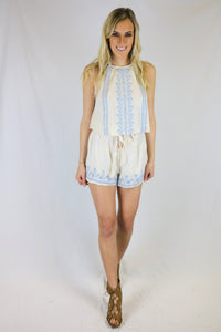 Embroidered Prairie Top