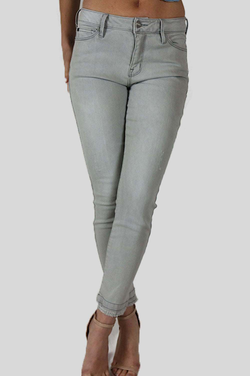 Super Soft Crop Gray Jeans