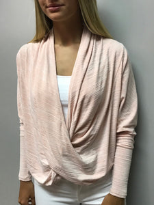 Peach v neck top