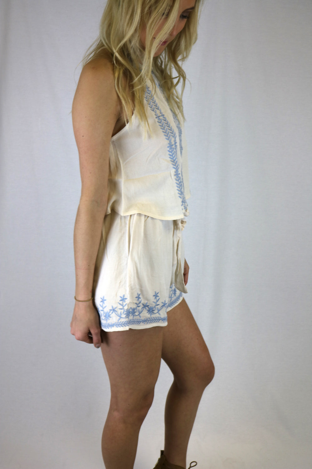 Embroidered Prairie Shorts