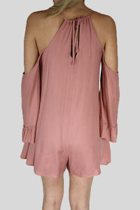 Dusty Pink Romper with Pockets