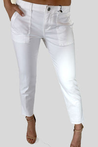 Cropped White pants
