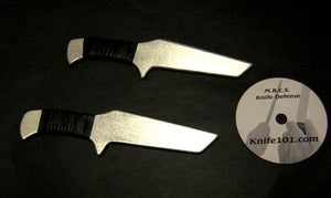 Aluminum Training Knives Airborne Ranger Self Defense Practice Metal Blade DVD