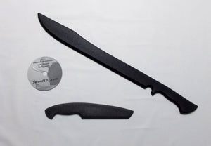Commando Training Sword Polypropylene Tanto Knife Fighting DVD Instruction