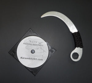 Aluminum Training Knife Karambit BLACK Instruction DVD Kali Arnis Escrima