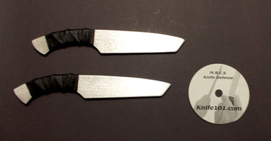 Tanto Aluminum Training Knives & Defense Knife Fighting DVD Kali MMA