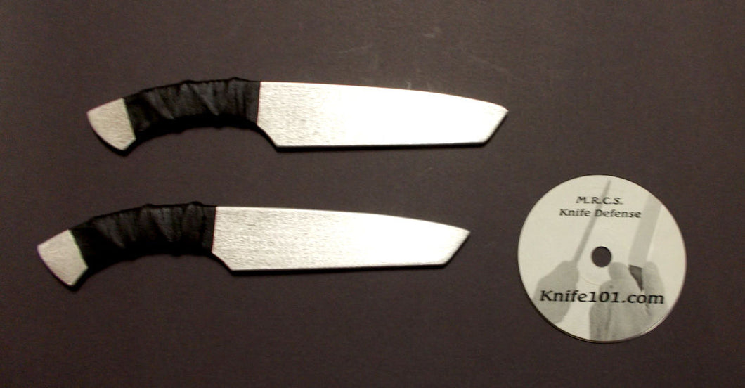 Tanto Aluminum Training Knives Defense Knife Fighting DVD Kali MMA