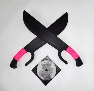 Polypropylene BUTTERFLY SWORDS KUNG FU PRACTICE SHAOLIN TRAINING SWORD Pink DVD